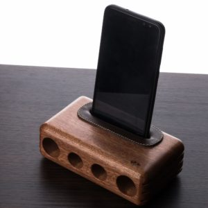 wood phone amplifier